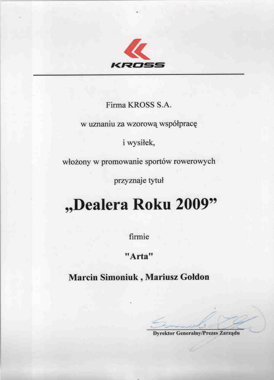 Dealer roku Kross